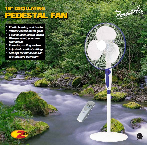 Pedestal Fan Old Packaging